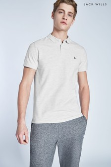 Polo Jack Wills Aldgrove gris cendré clair chiné