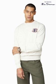 Ben Sherman Grey Cornelli Logo Sweater