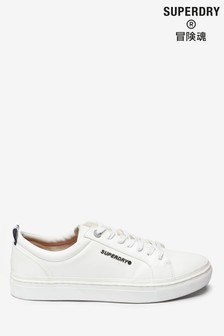 Superdry White Lace-Up Trainers