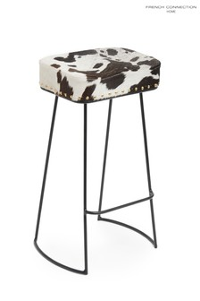 French Connection Cowhide Bar Stool