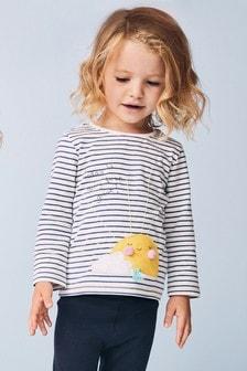 T-shirt à manches longues rayé motif soleil (3 mois - 7 ans)