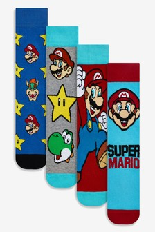 Super Mario Pattern Socks Four Pack