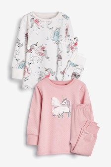 2 Pack Unicorn Snuggle Pyjamas (9mths-12yrs)