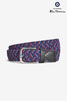 Ben Sherman®藍色/紅色編織腰帶