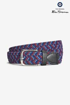 Ben Sherman® Blue/Red Weave Belt