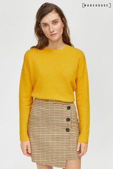 Warehouse Yellow Cosy Crew Jumper