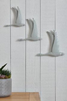 Set of 3 Bird Plaques
