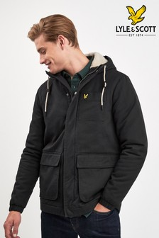 Lyle & Scott Black Wadded Jacket