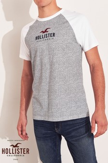 Hollister Grey Colourblock T-Shirt