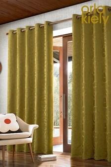 Orla Kiely Climbing Daisy Eyelet Curtains
