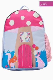 Joules Pink Toadstool Zippy Backpack