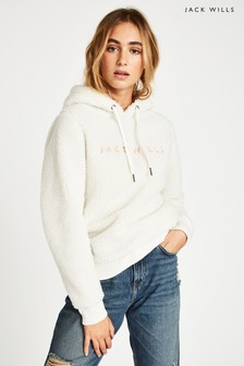 Jack Wills Vintage White Fulbourne Sherpa Hoody
