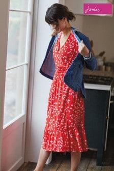 Joules Isabelle Woven Wrap Tea Dress