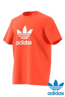 finest selection 910eb d0ed2 adidas Originals Orange Trefoil Tee
