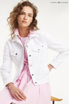 Tommy Hilfiger White Denim Jacket