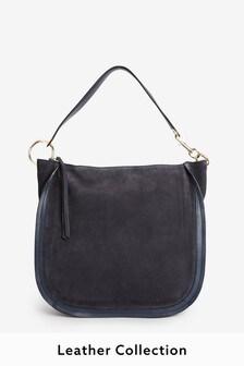 Кожаная сумка-хобо с кольцом