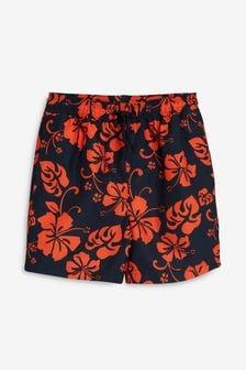 Schwimm-Shorts mit Hibiskus-Muster (3Monate bis 16Jahre)