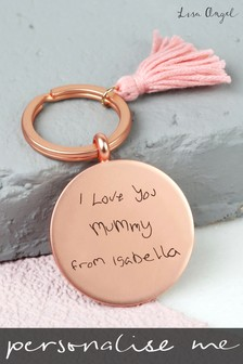 Personalised Round Tassel Keyring by Lisa Angel