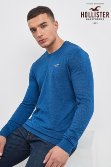 Hollister Navy Logo Jumper