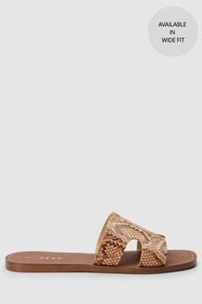 Square Toe Mule Sandals