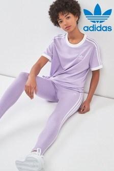 adidas Originals Purple 3 Stripe Tight