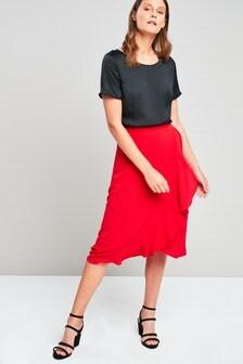 Wrap Frill Skirt