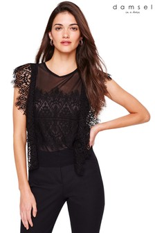 Damsel In A Dress Black Ines Lace Blouse