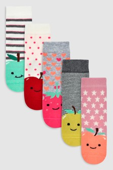 Fruit Character Socks Five Pack (Younger)