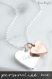 Personalised Double Charm Necklace by Lisa Angel