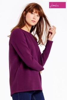 Joules Burgundy Sweatshirt With Zip Back