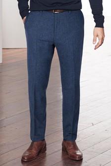 Nova Fides Signature Italian Fabric Herringbone Trousers