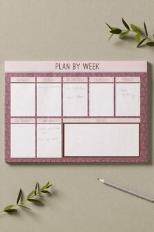 Blush Desk Planner