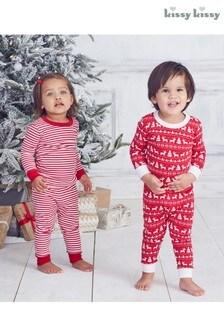 Kissy Kissy Christmas Fairisle Pattern Pyjamas