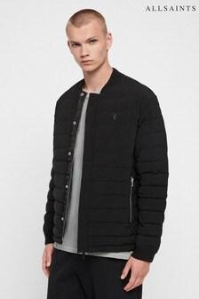 Čierna prešívaná bunda leteckého štýlu AllSaints Ablion