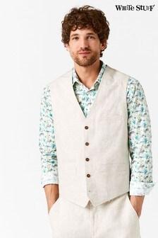 White Stuff Natural Northcote Linen Waistcoat