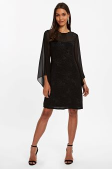 Wallis Black Star Sparkle Dress