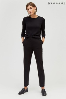 Warehouse Plain Slim Leg Trouser