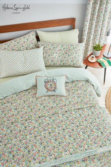 Helena Springfield Vintage Dottie Duvet Cover And Pillowcase Set
