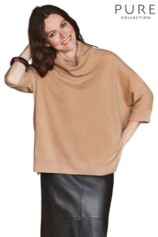 Pure Collection Natural Organic Cashmere Oversized Poncho