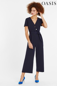 Oasis Blue Button Through Jumpsuit