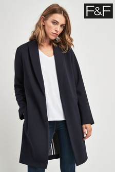 F&F Navy Crepe Duster