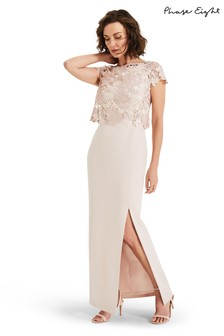 Phase Eight Pink Olivia Lace Bodice Maxi Dress