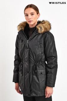 מעיל פארקה עם ברדס של Whistles בשחור