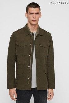 AllSaints Khaki Double Zip Baynes Jacket