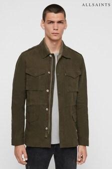Kaki bunda s dvojitým zipsom AllSaints Baynes