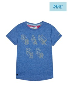 baker by Ted Baker Navy Logo Gel Texture Points Tee