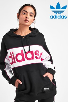 adidas Originals Black R.Y.V. Long Line Logo Hoody