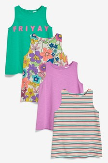 Bright Swing Vests Four Pack (3-16yrs)