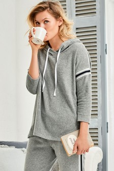 Cotton Towelling Hoody Top