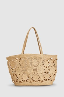 Cut-Out Jute Shopper